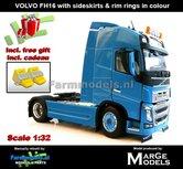 BLUE-2-Axle-Volvo-FH16-+-VELGPLAAT-BLAUW--MarGe-Models-1:32-MM1810-01-BLUE2-Handmatig-verbouwd-Nu-incl.-gratis-set-Wielkeggen