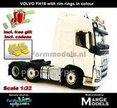 CREAMWHITE-3-Axle-Volvo-FH16-+-VELGPLAAT-Wit-Creme--MarGe-Models-1:32-MM1811-01-Nu-incl.-gratis-set-Wielkeggen