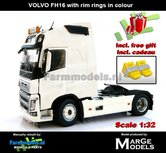 CREAMWHITE-2-Axle-Volvo-FH16-+-VELGPLAAT-WIT--CREME--MarGe-Models-1:32-MM1810-01--Nu-incl.-gratis-set-Wielkeggen