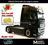 Rebuilt-ANTHRACIET-2-Axle-Volvo-FH16-+-VELGPLAAT-ANTHRACIET--incl.-gratis-set-Wielkeggen-1:32-MM1810-02-R