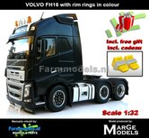Rebuilt-ANTHRACIET-3-Axle-Volvo-FH16-+-VELGPLAAT-ANTHRACIET-incl.-gratis-set-Wielkeggen-1:32-MM1811-02-R