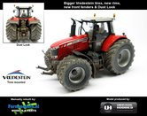 Rebuilt-+-Dirty-Massey-Ferguson-7626:-Brede-banden-&-Spatborden-met-Stoflook-1:32--UH4292-RD