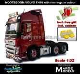 Rebuilt-RED-3-Axle-NOOTEBOOM-EDITION-Volvo-FH16-+-VELGPLAAT-ROOD--incl.-gratis-set-Wielkeggen-1:32-MM1811-03-01-R-VERWACHT-2019