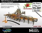 Dirty-VERKRUIMELROLLEN-&-MESTLOOK-VMR-Veenhuis-Terraject-300-8.12mtr-Bouwlandbemester-1:32-MM1822-D+FG-+-FREE-GIFT