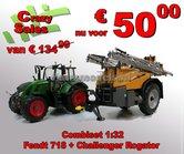 COMBIPACK:-Fendt-718-Vario-+-Challenger-RoGator-300-getrokken-veldspuit-RS301955-Toys-Farm-SUPERSTUNTPRIJS-1:32-Zwolle-2018-leverbaar-zolang-de-voorraad-strekt