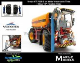 Rebuilt:-Vredo-Trac-VT7028-2-op-VREDESTEIN-Banden-+-BLAUWE-RUBBER-ZUIGARMSLANG-+-gratis-zuigslang-1:32-Marge-Models-(MM1801VREDO)