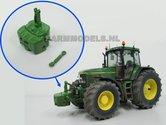 20762-Frontgewicht-+-Topstang-John-Deere-7810-groen-metaal-1:32