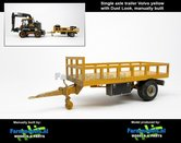 Rebuilt-&-Dirty:-Bakkenwagen-GEEL-enkelasser-+-Stoflook-geschikt-voor-div.-mobiele-kranen-&-shovels-1:32