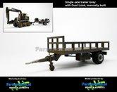 Rebuilt-&-Dirty:-Bakkenwagen-GRIJS-enkelasser-+-Stoflook-geschikt-voor-div.-mobiele-kranen-&-shovels-1:32