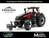 Rebuilt-BLACK-RED-Case-Magnum-380-VREDESTEIN-Lim.Ed.-1000-st.-Marge-Models-1:32-MM1818-R
