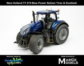 Rebuilt-&-Dirty-New-Holland-T7.315-Blue-Power-op-NOKIAN--GAZON-banden-+-STOFLOOK-1:32---LAST-ONES