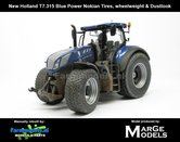 Rebuilt-&-Dirty-New-Holland-T7.315-Blue-Power-op-NOKIAN--GAZON-banden-+-WIELGEWICHT-+-STOFLOOK-1:32