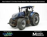 New-Holland-T7.315-Blue-Power-geleverd-op-Gazon--Nokian-banden-met-wielgewicht-+-Stoflook-1:32