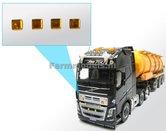 22129-4x-oranje-reflectors-3-x-3-mm-vierkant-1:32