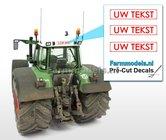 UW-TEKST--3x-WITTE-Kentekenplaatsticker-RODE-LETTERS-Pré-Cut-Decals-met-uw-opgegeven-tekst-1:32-Farmmodels.nl