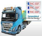 THC-037--3x-BE-WITTE-Kentekenplaatsticker-RODE-LETTERS-Pré-Cut-Decals-1:32-Farmmodels.nl