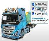 7-JTU-616-3x-BE-WITTE-Kentekenplaatsticker-ZWARTE-LETTERS-Pré-Cut-Decals-1:32-Farmmodels.nl