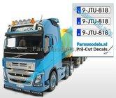 9-JTU-818-3x-BE-WITTE-Kentekenplaatsticker-ZWARTE-LETTERS-Pré-Cut-Decals-1:32-Farmmodels.nl