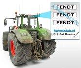 FENDT--3x-WITTE-Kentekenplaatsticker-ZWARTE-LETTERS-Pré-Cut-Decals-1:32-Farmmodels.nl