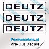 DEUTZ--3x-WITTE-Kentekenplaatsticker-ZWARTE-LETTERS-Pré-Cut-Decals-1:32-Farmmodels.nl