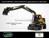 Rebuilt-BLACK-RIMS-Volvo-EWR150E-kraan-LAGEDRUK-BANDEN--ZWARTE-VELGEN-+-Tiltrotator-S6-S60-snelwissel-+-bak-1:32--AT3200101-R