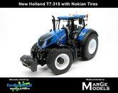 New-Holland-T7.315-geleverd-op-Gazon---Nokian--Transport-banden-1:32