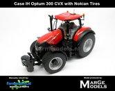 Rebuilt-NOKIAN:-Case-IH-Optum-300-CVX-geleverd-op-Gazon---Nokian--Transport-banden-1:32---MM1608-R