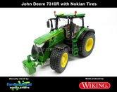 Rebuilt-John-Deere-7310R-geleverd-op-Gazon---Nokian--Transport-banden-1:32-Wiking-WK77837