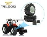Trelleborg-650-60-R34-vooras-banden-+-Diecast-velgen-Steyr-grijs-gespoten-+-eindvertraging--Ø-52.2-mm-1:32-Universele-set