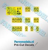 10x-Gevaren--&-Waarschuwingstickers-Pré-Cut-Decals-1:32-Farmmodels.nl