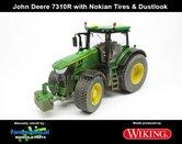 Rebuilt-+-Dirty-John-Deere-7310R-geleverd-op-Gazon---Nokian--Transport-banden-+-Stoflook-1:32-Wiking-WK77837
