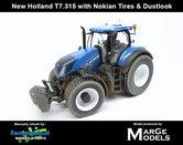 New-Holland-T7.315-geleverd-op-Gazon---Nokian--Transport-banden-+-Stoflook-1:32