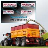 4x-HARDOX-IN-MY-BODY-met-tekst-(Hard-Slijtvast-Staal)-stickers-Pré-Cut-Decals-1:32-Farmmodels.nl