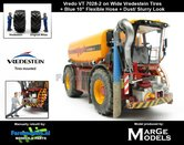 Rebuilt-&-Dirty:-Vredo-Trac-VT7028-2-op-VREDESTEIN-Banden-+-BLAUWE-RUBBER-ZUIGARMSLANG-+-STOF--&-MESTLOOK-+-gratis-zuigslang-1:32-Marge-Models-(MM1801VREDO)