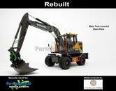 Rebuilt-BLACK-RIMS-Volvo-EWR150E-kraan-MITAS-banden-+-Tiltrotator-S6-S60-snelwissel-+-bak-1:32--AT3200100-R