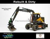 Rebuilt-&-Dirty-BLACK-RIMS-Volvo-EWR150E-kraan-NOKIAN-banden-STOF--&-SLIJTLOOK-+-Tiltrotator-S6-S60-snelwissel-+-bak-1:32--AT3200101-RD