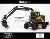 Rebuilt-BLACK-RIMS-Volvo-EWR150E-kraan-NOKIAN-banden-+-Tiltrotator-S6-S60-snelwissel-+-bak-1:32--AT3200101-R