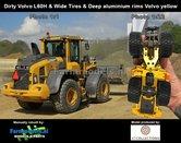 Rebuilt-&-Dirty:-Volvo-L60H-Shovel-DIEPE-ALU.-VELGEN-&-BREDE-LAGEDRUK-BANDEN-&-STOF---SLIJTLOOK-+-snelwissel-+-bak--1:32---AT3200120-R