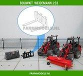 Palletvork-setje-BOUWKIT-t.b.v.-snelwissel-set-nr.-50300-50325-Mini-shovel-(Weidemann-Siku)-1:32
