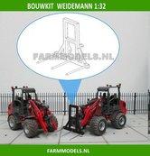 Hooivorkje-BOUWKIT-t.b.v.-snelwissel-set-nr.-50300-50325-Mini-shovel-(Weidemann-Siku)-1:32