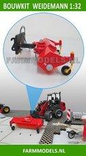 Veegmachine-+-snelwisselset-BOUWKIT-t.b.v.-mini-shovel-(Weidemann)-snelwisselset-nr.-50300-50325-1:32