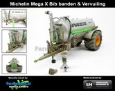 Rebuilt-&-Dirty-Joskin-Modulo-2-MESTLOOK-+-Michelin-Mega-Bibx-1050-banden-&-alu.-velgen-Joskin-Geel-1:32--UH2869-R