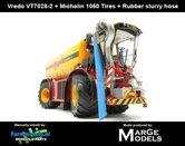 Rebuilt:-Vredo-Trac-VT7028-2-+-MICHELIN-1050-Banden-+-BLAUWE-RUBBER-ZUIGARMSLANG--1:32-Marge-Models-(MM1801VREDO)