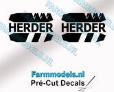 2x-HERDER-Logo-stickers-10-mm-hoog-Pré-Cut-Decals-1:32-Farmmodels.nl