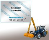 2x-Grenadier-Dik-gedrukt-(Herder)-stickers-3-mm-hoog-Pré-Cut-Decals-1:32-Farmmodels.nl