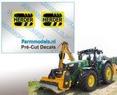 2x-HERDER-Logo-ZWART-OP-GEEL-stickers-7-mm-hoog-Pré-Cut-Decals-1:32-Farmmodels.nl