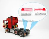 2x-RECHTHOEK-Truck-Trailer-Achterlicht-Rood-Wit-ong.-17.23-x-4.6-mm-(Volvo-FH16-MarGe-Models)-1:32