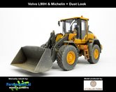 New-Decals-&-Dirty-Volvo-L90H-Shovel-+-STOF--&-SLIJTLOOK-+-Michelin-+-Volvo-VAB-STD-snelwissel-+-bak--1:32-AT3200120-ND