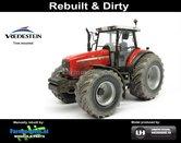 Rebuilt-+-Dirty-MF-8220-Xtra-Massey-Ferguson-+-Bredere-&-grotere-Vredestein-banden-1:32-UH5331-RD-EXPECTED-AUGUST