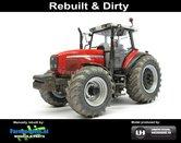 Rebuilt-+-Dirty-MF-8220-Xtra-Massey-Ferguson-+-Bredere-&-grotere-banden-+-wielgewichten-met-Stoflook-1:32-UH5331-RD--EXPECTED-AUGUST